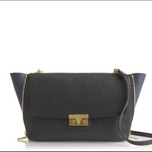 j.crew Goodwin leather colorblock crossbody purse